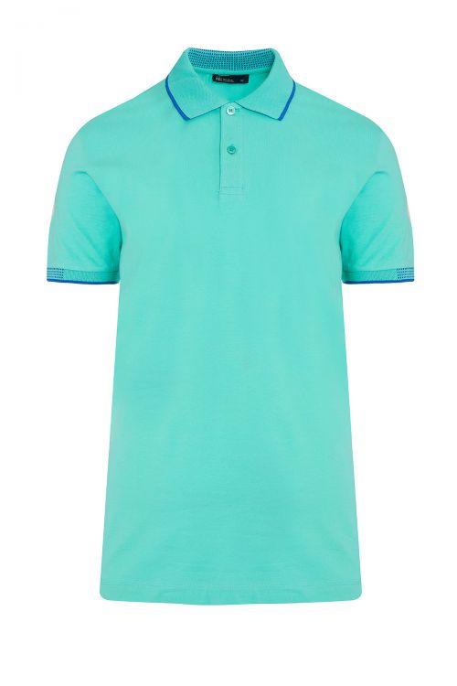 Mint Yeşil Polo Yaka Regular Fit Tişört