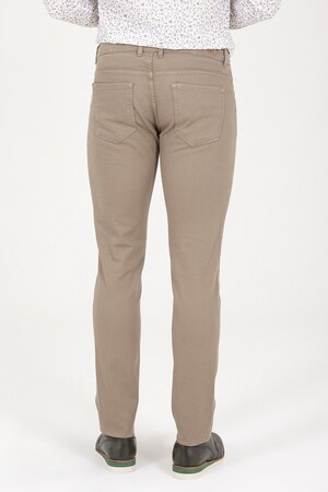 Bej Slim Fit Kanvas Pantolon - Thumbnail