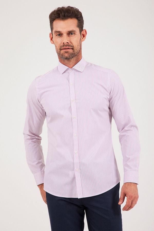 PEMBE Çizgili Slim Fit Gömlek