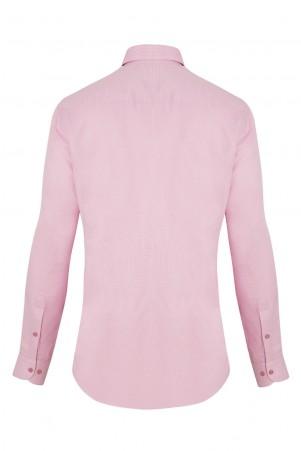 Pembe Desenli Uzun Kol Gömlek - Thumbnail