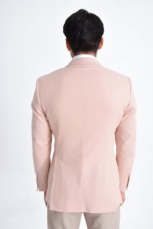 Pembe Desenli Slim Fit Ceket - Thumbnail