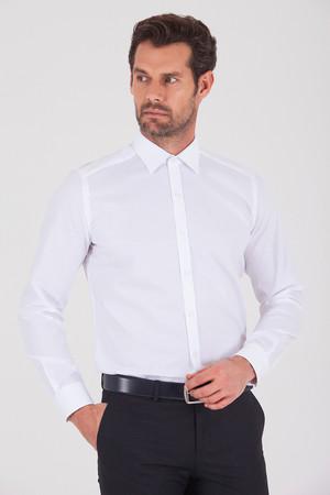 Regular Beyaz Gömlek - Thumbnail