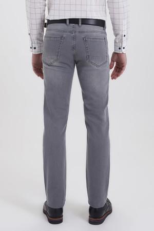Gri Regular Fit Kot Pantolon - Thumbnail