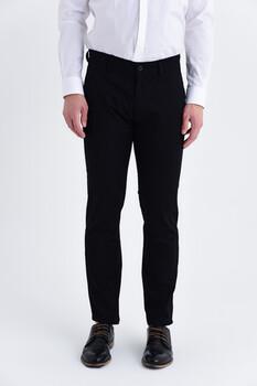 Siyah Regular Fit Spor Pantolon - Thumbnail