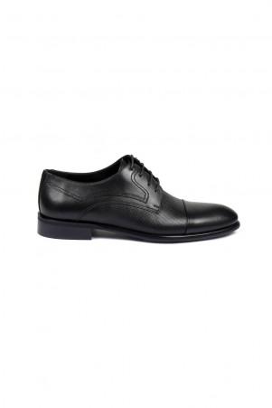 Siyah Deri Klasik Ayakkabı - Thumbnail