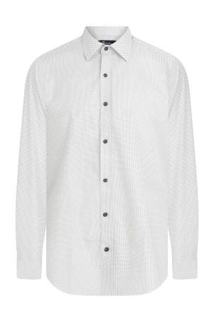 Slim Fit Desenli Beyaz Gömlek - Thumbnail