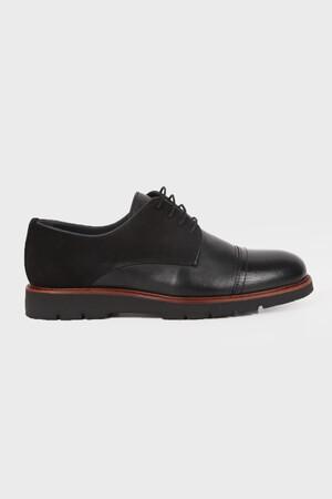 Siyah Günlük Oxford Ayakkabı - Thumbnail