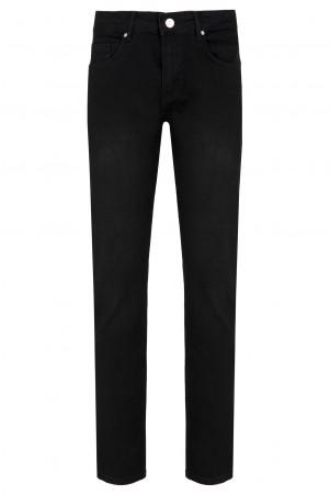 Siyah Regular Fit Kot Pantolon - Thumbnail