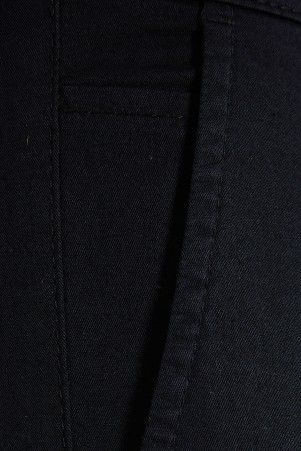 Siyah Regular Fit Kanvas Pantolon - Thumbnail