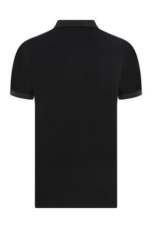 Siyah Polo Yaka Tişört - Thumbnail