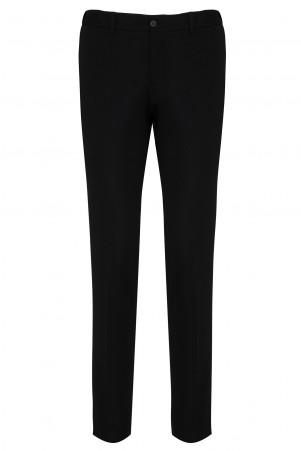 Siyah Slim Fit Kanvas Pantolon - Thumbnail