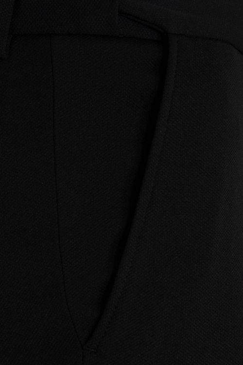 Siyah Slim Fit Kanvas Pantolon