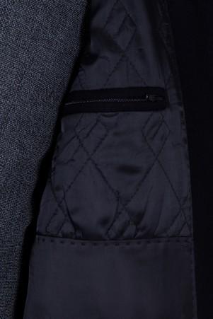 Siyah Bebe Yaka Yün Palto - Thumbnail