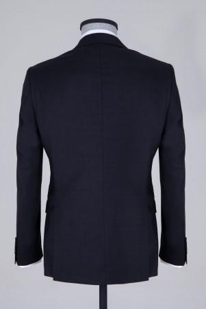 Siyah Slim Fit Yün Takım Elbise - Thumbnail