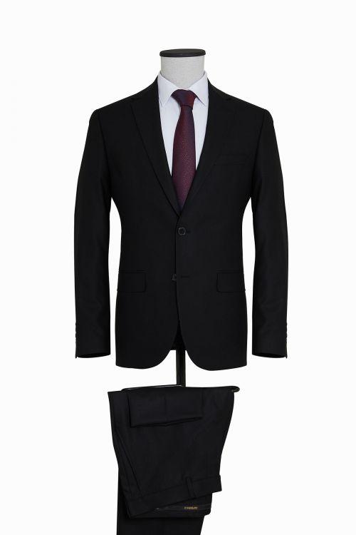 Siyah Slim Fit Takım Elbise