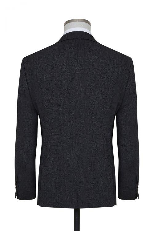 Siyah Desenli Slim Fit Takım Elbise