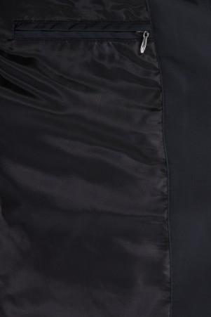 Siyah Hakim Yaka Kapitone Kaban - Thumbnail