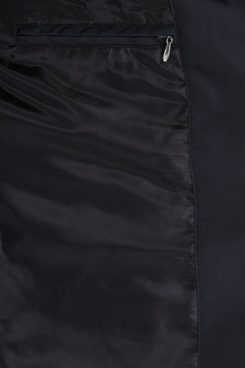 Siyah Hakim Yaka Kapitone Kaban