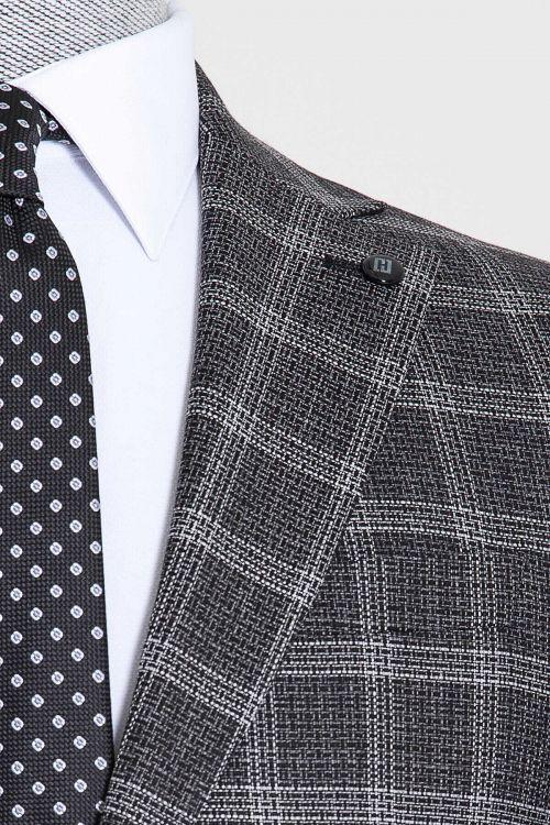Siyah Kareli Mix Takım Elbise