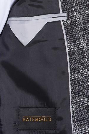 Siyah Kareli Mix Takım Elbise - Thumbnail