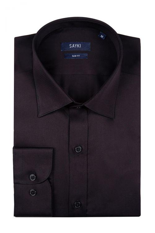 Siyah Slim Fit Spor Gömlek