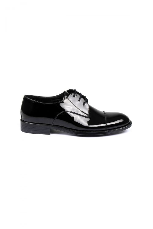 Siyah Rugan Deri Ayakkabı