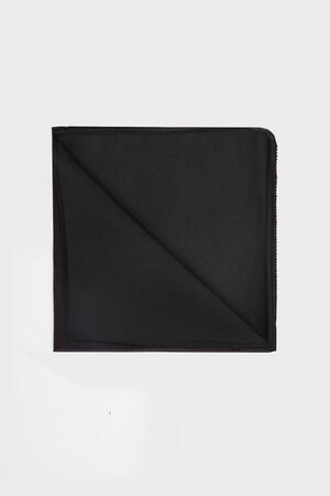 Siyah Tanımsız Kravat / Papyon / Mendil - Thumbnail