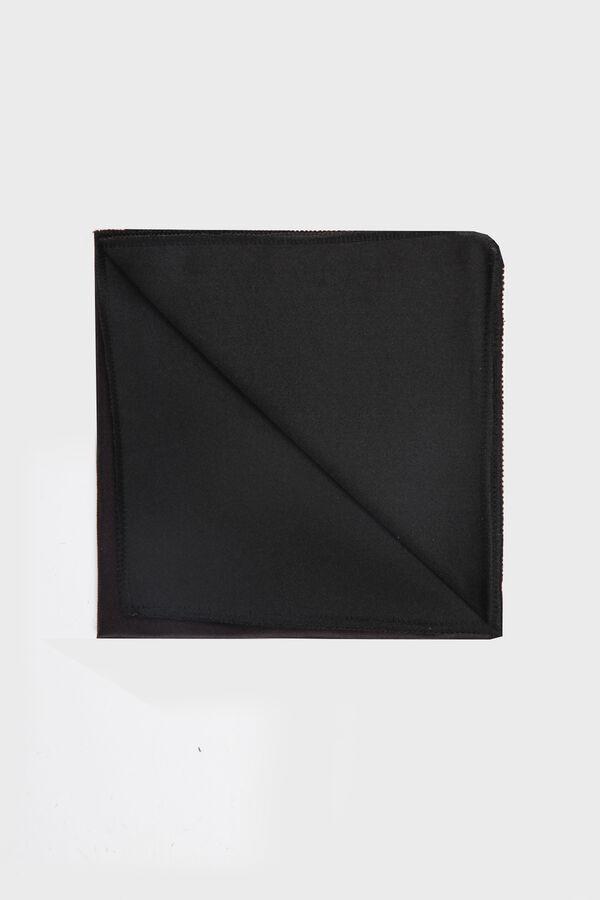 Siyah Tanımsız Kravat / Papyon / Mendil