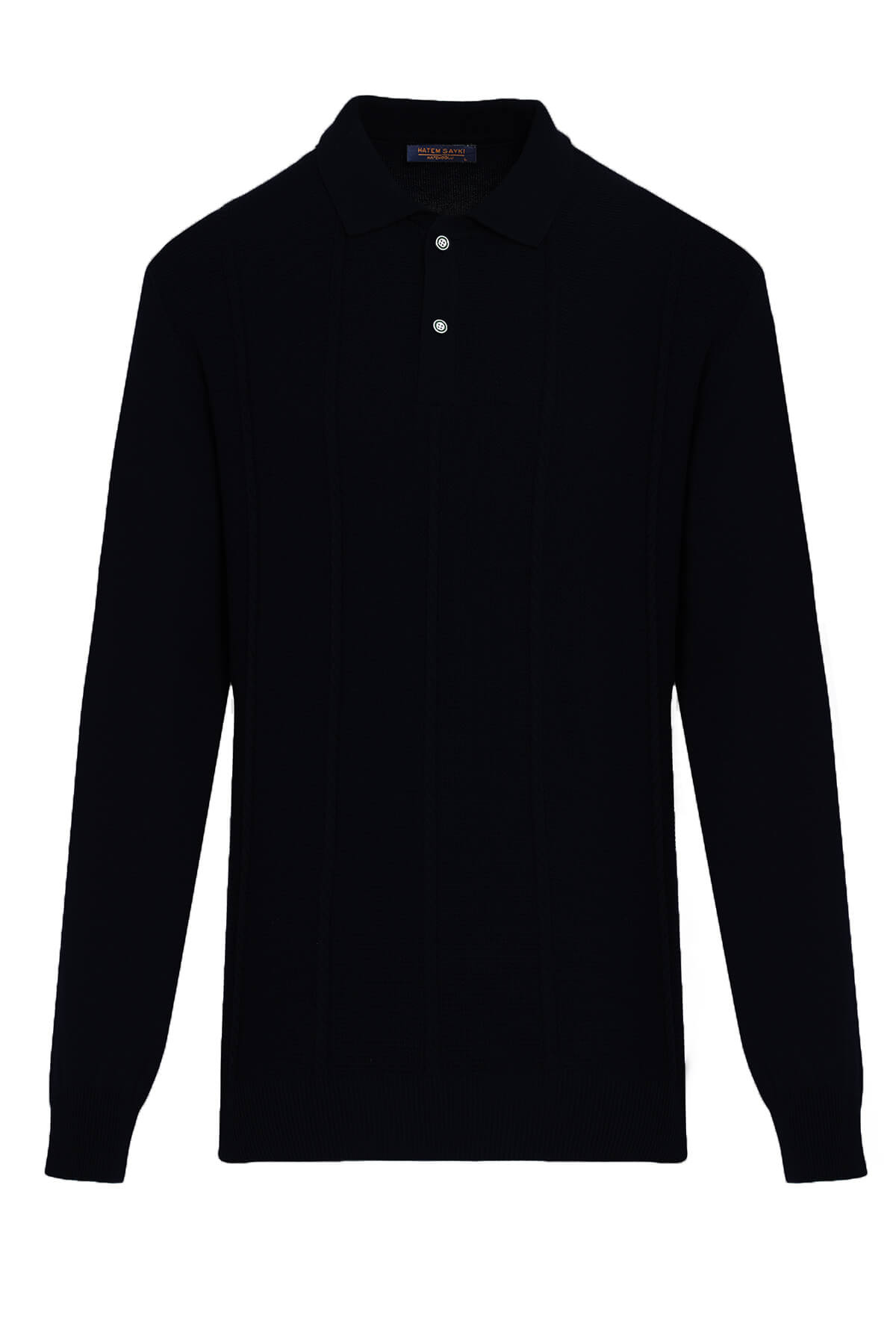 Siyah Polo Yaka Kazak