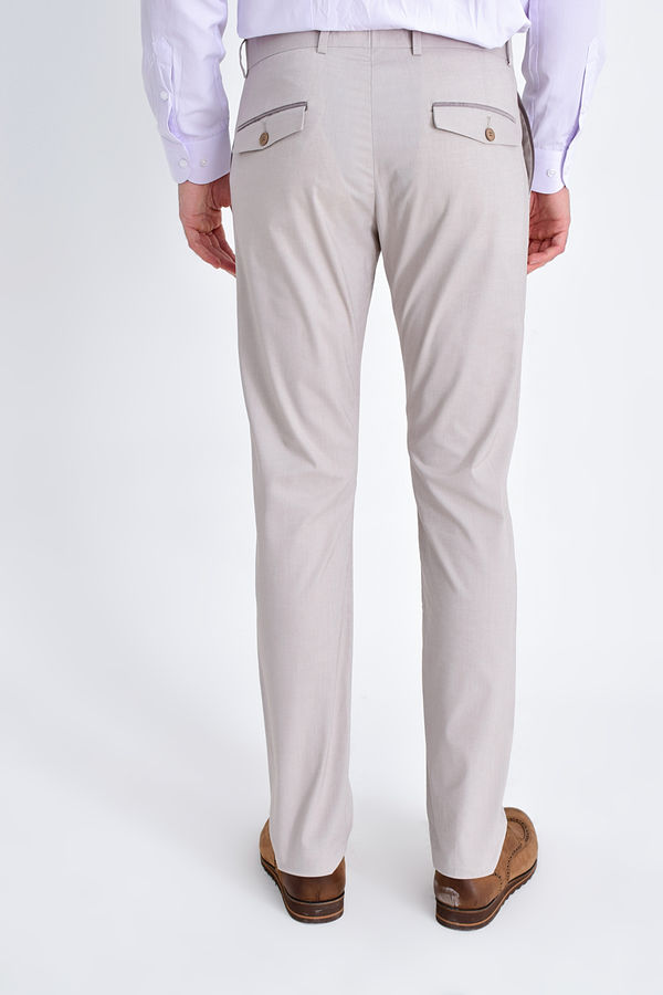 Bej Slim Fit Spor Pantolon