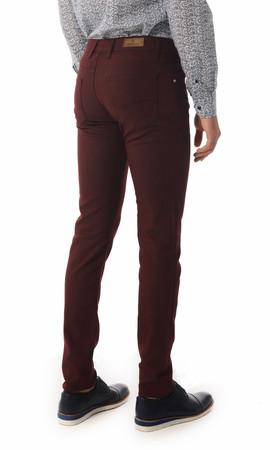 Bordo Slim Fit Spor Pantolon - Thumbnail