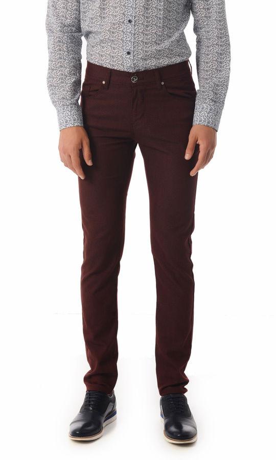 Bordo Slim Fit Spor Pantolon
