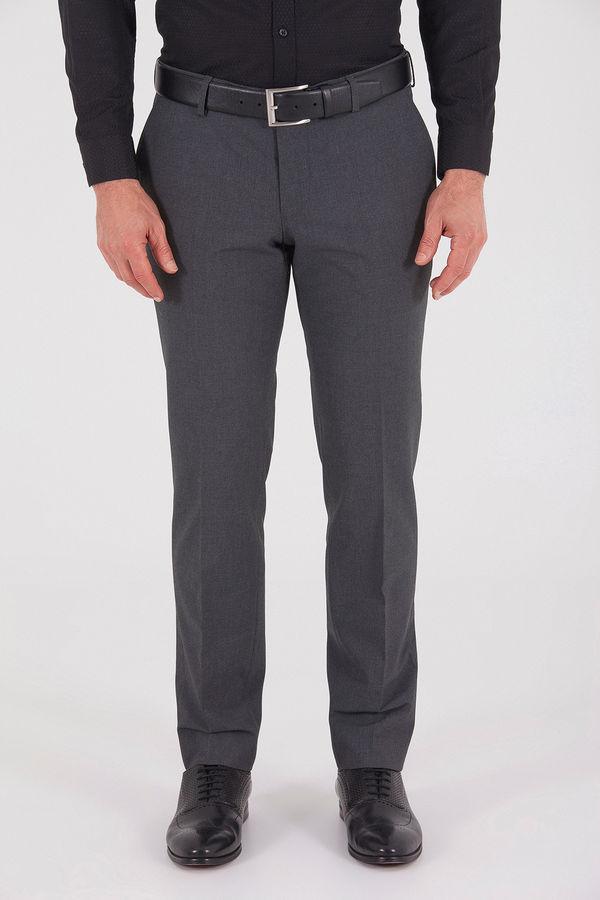 Gri Slim Fit Kumaş Pantolon