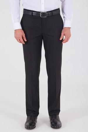 Siyah Slim Fit Yünlü Kumaş Pantolon - Thumbnail