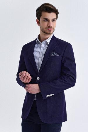 Lacivert Slim Fit Blazer Ceket