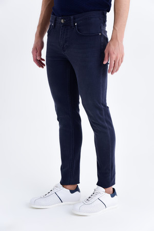 Lacivert Slim Fit Kot Pantolon - Thumbnail