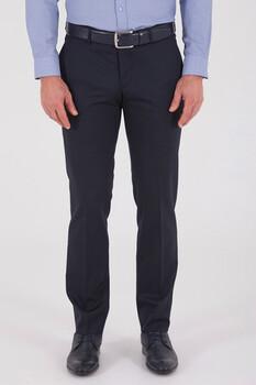 Lacivert Slim Fit Yünlü Kumaş Pantolon - Thumbnail