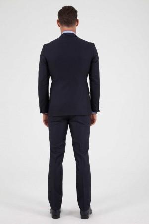 Lacivert Slim Fit Takım Elbise - Thumbnail