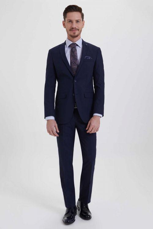 Lacivert Slim Fit Takım Elbise
