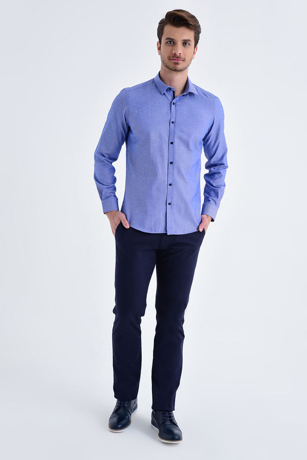Slim Fit Mavi Gömlek