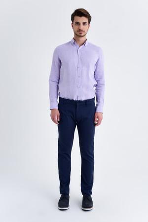 Açık Lacivert Slim Fit Spor Pantolon - Thumbnail