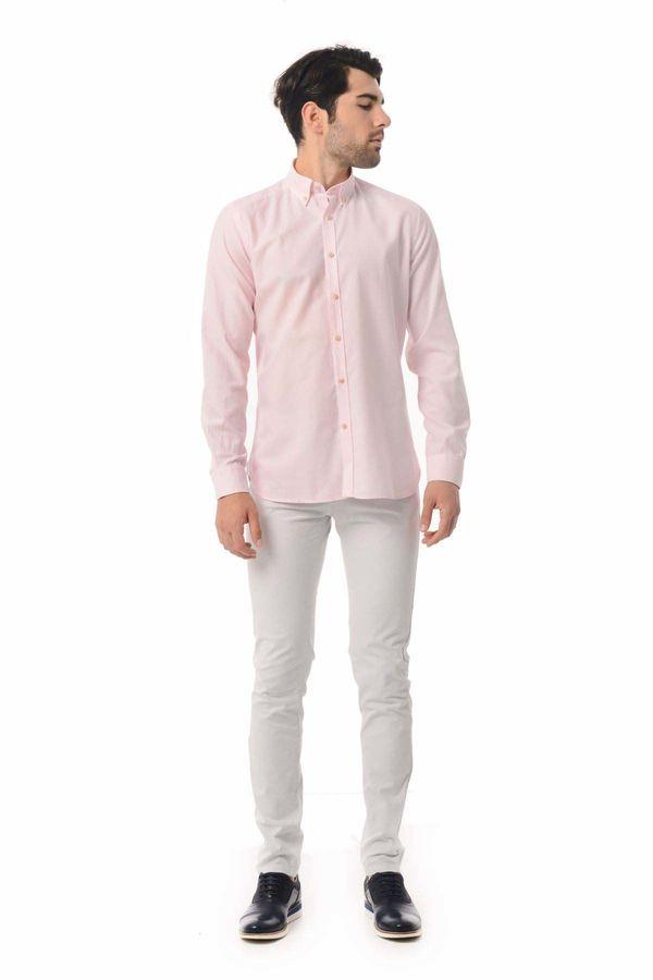 Slim Fit Pembe Gömlek