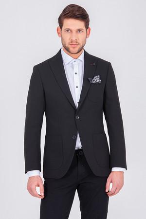 Siyah Slim Fit Klasik Blazer Ceket - Thumbnail