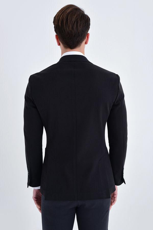 Siyah Slim Fit Blazer Ceket