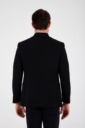 Siyah Slim Fit Ceket - Thumbnail