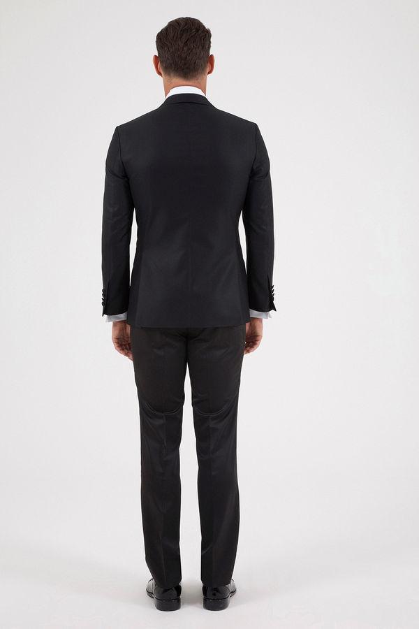 Slim Fit Siyah Damatlık /Smokin