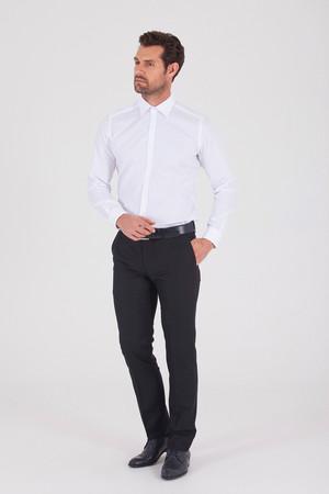Siyah Slim Fit Kumaş Pantolon - Thumbnail