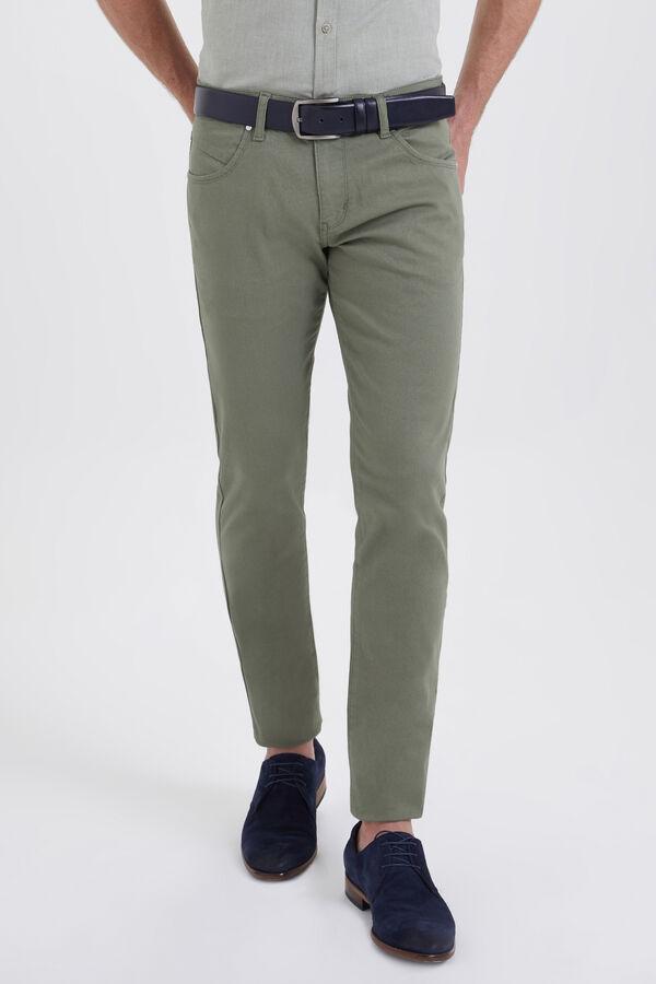 Slim Fit Yeşil Pantolon