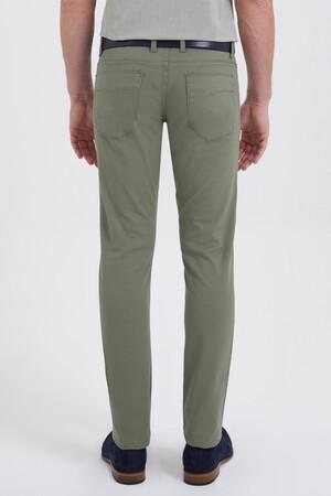 Slim Fit Yeşil Pantolon - Thumbnail