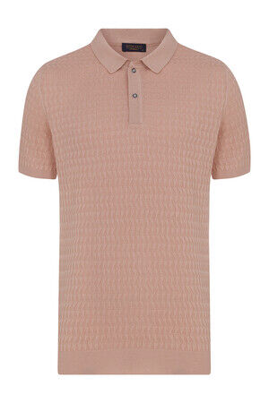 Somon Desenli Polo Yaka Tişört